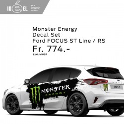 Ford Focus Monster Energy Decal Set ST Line / RS
