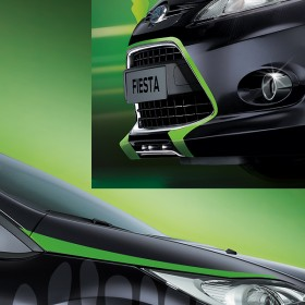 Ford Fiesta Monster Edition Frontbeschriftung
