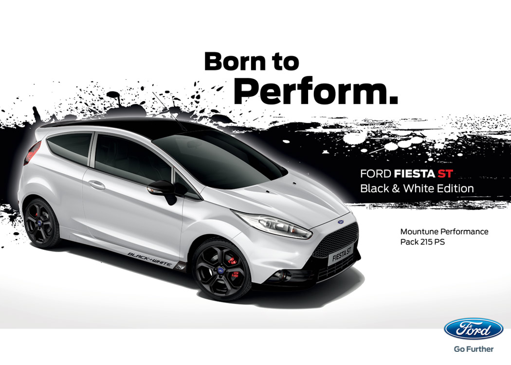 Limitierte Ford Fiesta St Black Amp White Edition